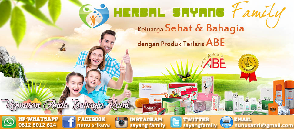 DISTRIBUTOR PRODUK ABE ORIGINAL MURAH - HERBAL SAYANG FAMILY